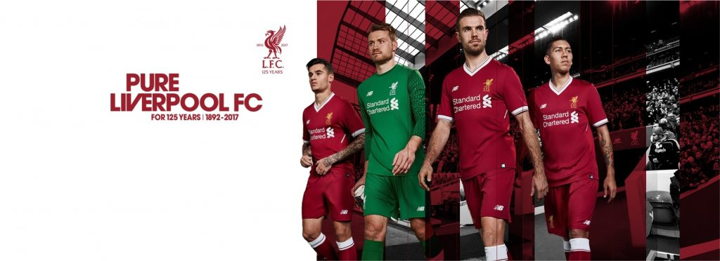 New Liverpool 125th anniversary kit at Elverys Intersport