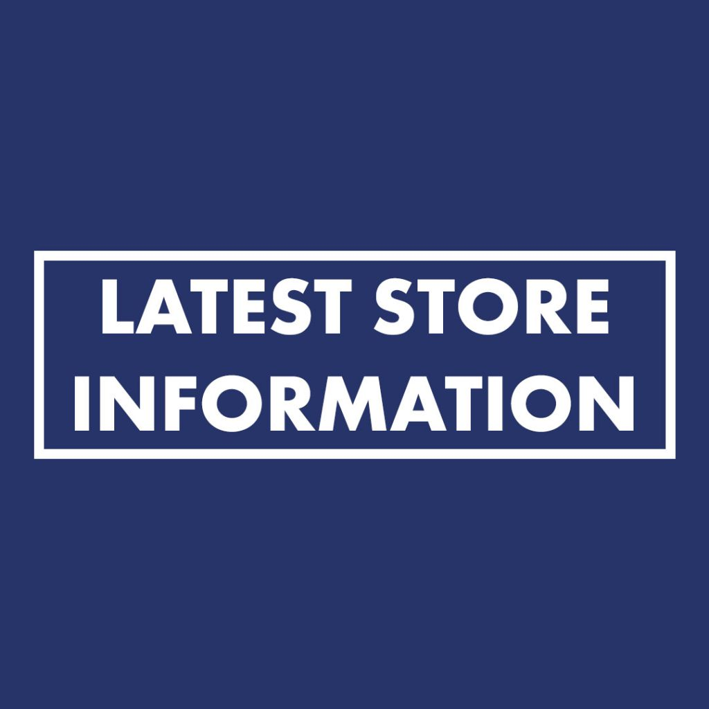 Lockdown - Latest store information
